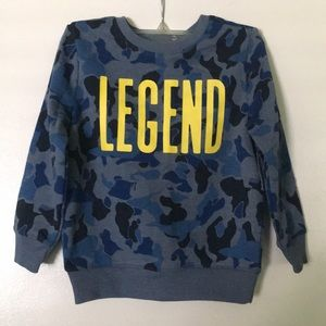 Other - Legend camouflage sweatshirt